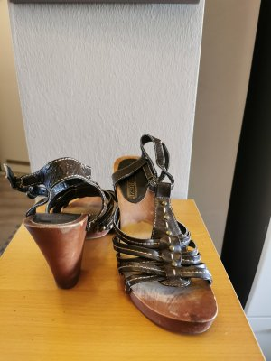 Marco Tozzi T-Strap Sandals bronze-colored leather
