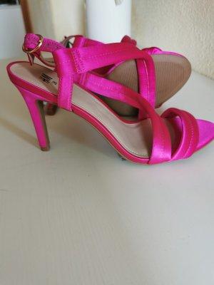 H&M Sandały na obcasie różowy