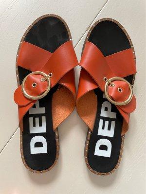 DEPP Sandalo comodo arancione scuro