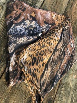 Sommer Schal Tuch Rundschal im angesagten Animal Print Leo Muster Leopard wunderschöner Schal SOMMERSCHAL im angesagten Animal Print Rundschal