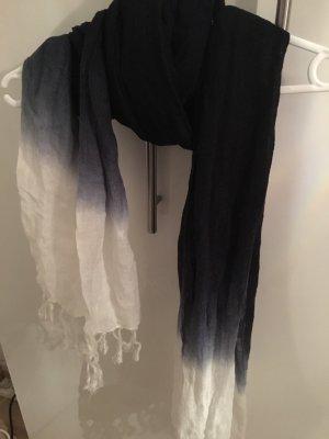 H&M Divided Écharpe d'été noir-blanc lin