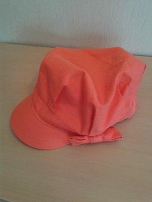 Chapeau en tissu rouge clair coton