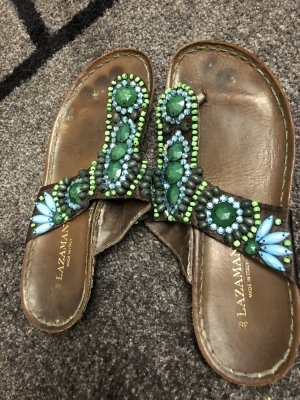 Comfort Sandals turquoise-lime-green