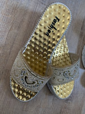 100% Fashion Instappers wit-goud