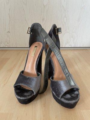 Sandalo outdoor viola-grigio