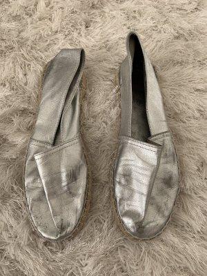 Mokasyny jasnoszary-srebrny