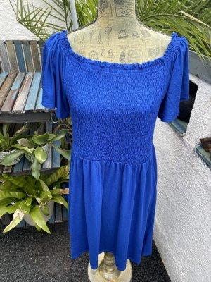 Sommer Schulterfreie Kleid Esprit 42 blau Neu mit Etikett