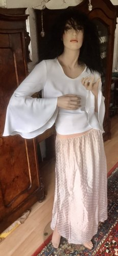Made in Italy Jedwabna spódnica biały-różany Jedwab