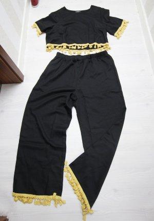 Jersey twin set zwart