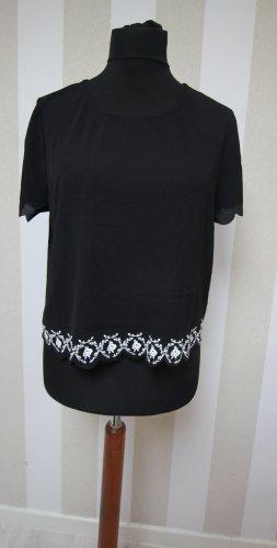 T-shirt biały-czarny