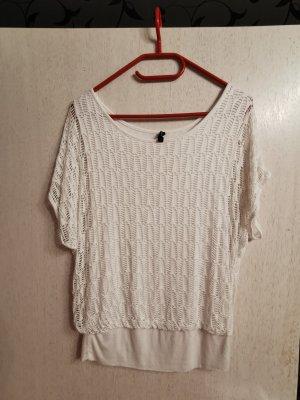 Forever 18 Gehaakt shirt wit