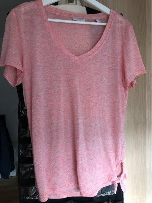 Sommer Shirt V Ausschnitt mit Schleife
