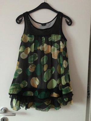 Sommer Shirt Volant Tunika Kleidchen Top Bluse Blumen Floral romantisch