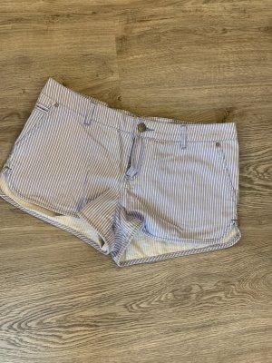Primark Short en jean blanc-bleu azur