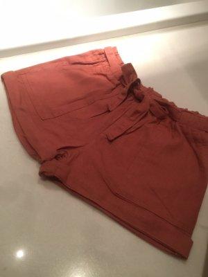 Pantalon en lin rouge clair