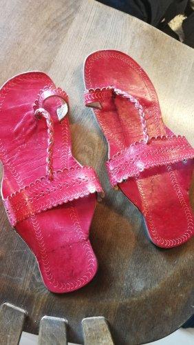 Pantofola rosso scuro