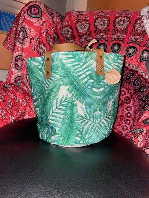 Sommer Sonne...!Neue Tasche mit floralem Print super leicht Stoff und heut Mittag