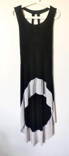 Robe bas asymétrique noir-blanc