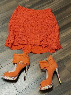 Rosa Rot Bottes à bout ouvert orange
