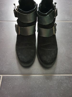 Topshop Stivaletto cut out nero-argento
