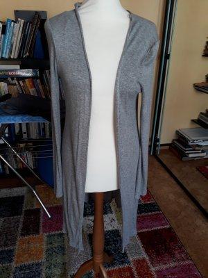 Active USA Veste en tricot argenté-gris clair