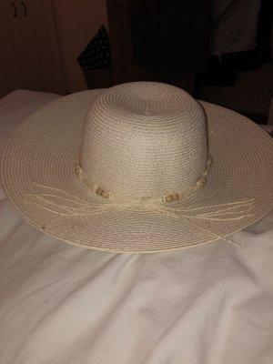 Chapeau de soleil doré-blanc