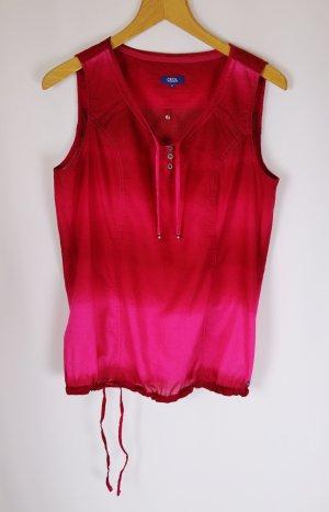 Sommer Top Blusentop Tunika Cecil Größe M 38 Pink Magenta Dipdye Coloured Batik Streifen V-Neck