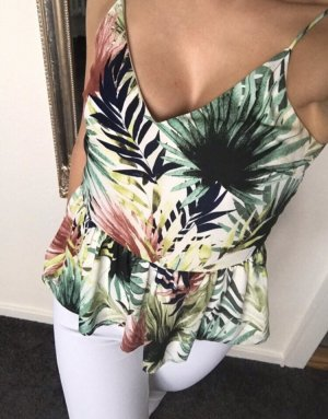 Only Top peplum multicolor