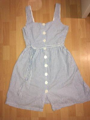 Sukienka typu babydoll biały-błękitny