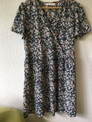 Sommer Wickel Kleid geblümt bunt Gr. M/L