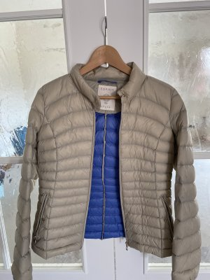 edc by Esprit Quilted Jacket oatmeal-neon blue