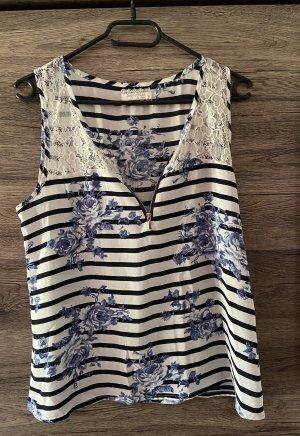 Jennifer Taylor Blusa Camisa blanco-azul