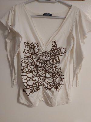 Elements Blusa Camisa blanco puro-marrón oscuro