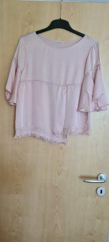 King Kong Glanzende blouse stoffig roze