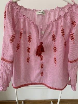 Carmen blouse veelkleurig Katoen