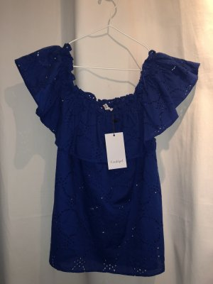conbipel Off the shoulder top blauw-donkerblauw