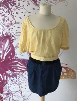 H&M Carmen blouse sleutelbloem-geel