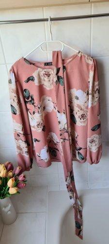 SheIn Silk Blouse dusky pink-pink