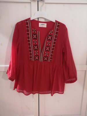Ba&sh Blusa a tunica bianco-rosso Cotone