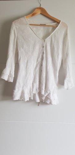 Canda Premium Transparante blouse wit