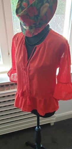 Slip-over blouse rood Katoen