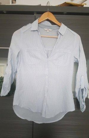Clockhouse Blusa de manga larga blanco-azul celeste