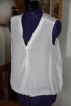 Saint Tropez Bluzka z falbankami biały-w kolorze białej wełny Bawełna