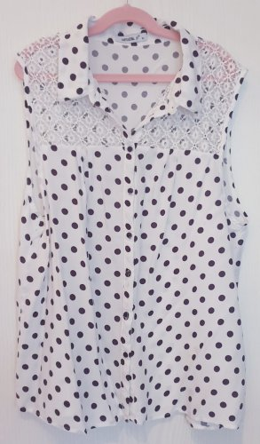 Sommerbluse , Spitze, Punkte, Dots