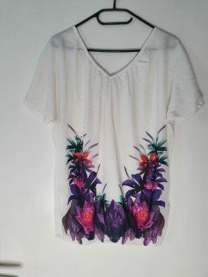 Flame Bluzka o kroju koszulki fiolet-biały