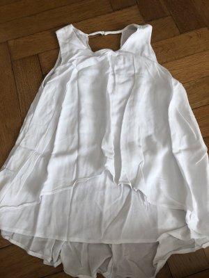 Bershka Blusa in seta bianco