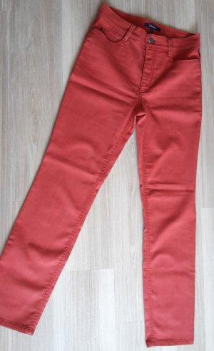Atelier Gardeur Slim Jeans dark orange cotton