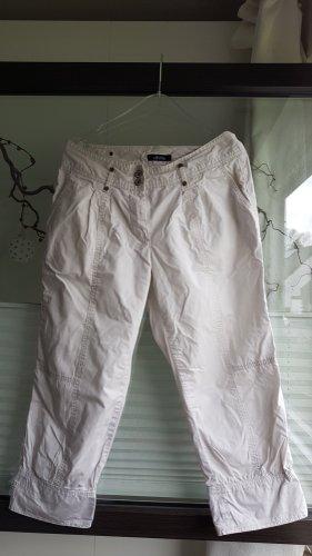Olivia Pantalon 3/4 blanc coton