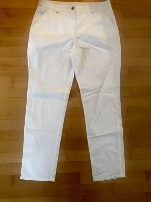 Canda Low-Rise Trousers white cotton