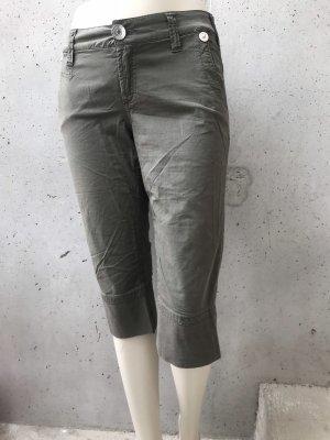 Spodnie Capri zielono-szary